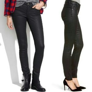 """Madewell Black Coated 9"""" High-rise Skinny Jeans 31"""